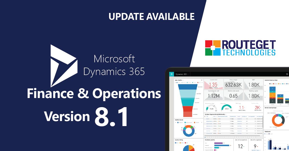 Dynamics 365 F&O - Version 8.1 Update